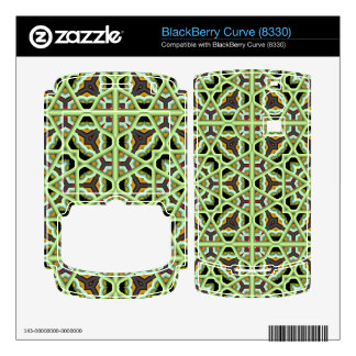 Kaleidoscope Abstract Multicolored Pattern BlackBerry Curve Decals