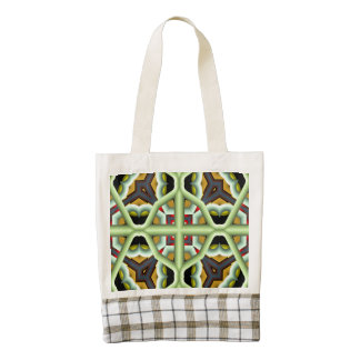 Kaleidoscope Abstract Multicolored Pattern Zazzle HEART Tote Bag