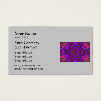 Kaleidoscope Abstract with Purple, Pink and Green Business Card