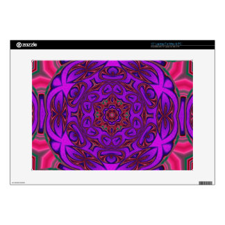 """Kaleidoscope Abstract with Purple, Pink and Green Decal For 15"""" Laptop"""