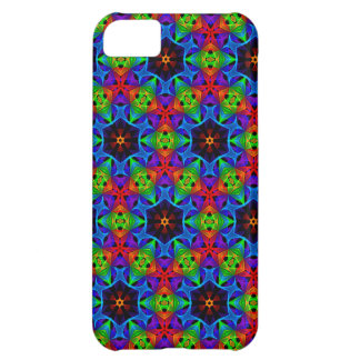 Kaleidoscope and Spirograph Polychromatic Polygons Cover For iPhone 5C