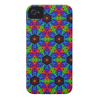 Kaleidoscope and Spirograph Polychromatic Polygons iPhone 4 Case