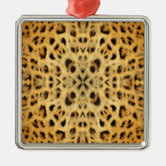 Kaleidoscope Animal Fur Pattern Metal Ornament