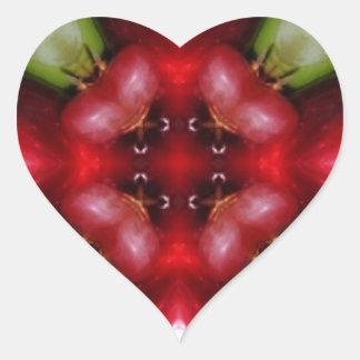 Kaleidoscope apples and grapes.jpg heart sticker