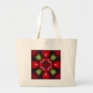 Kaleidoscope apples and grapes.jpg large tote bag