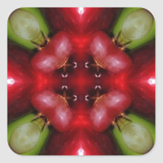 Kaleidoscope apples and grapes.jpg square sticker