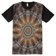 Kaleidoscope Art 24 All-Over Print T-shirt