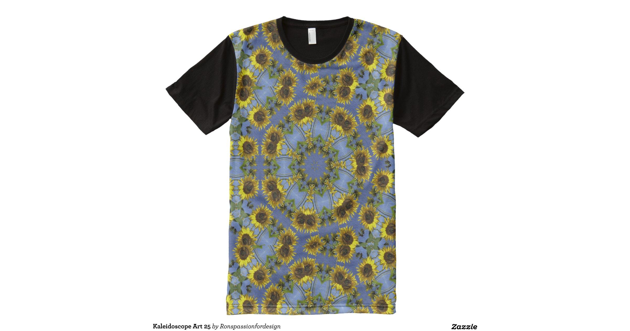 Kaleidoscope art 25 all over print t shirt zazzle for Vista print tee shirt