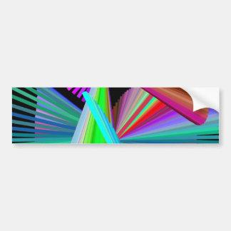 Kaleidoscope Art Multicolor Bumper Sticker