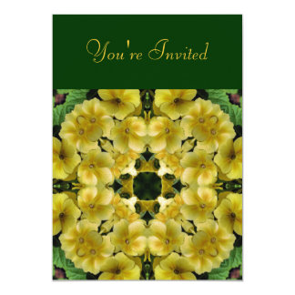 "Kaleidoscope Art Primrose Floral Invitation 5"" X 7"" Invitation Card"