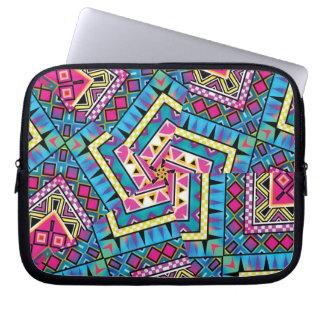 Kaleidoscope Aztec inspired pattern Computer Sleeve