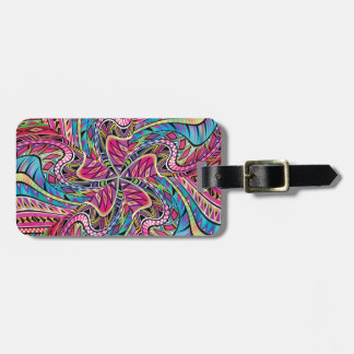 Kaleidoscope Aztec inspired pattern Tag For Bags