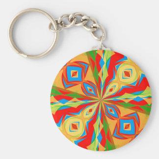 Kaleidoscope Basic Round Button Keychain