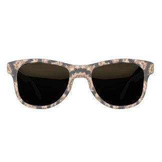 Kaleidoscope Beige Circular Pattern Sunglasses