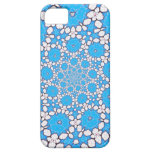 Kaleidoscope blue and white case iPhone 5 cover