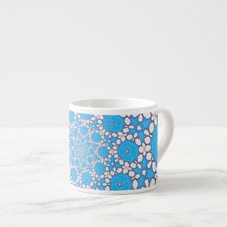 Kaleidoscope blue and white mug