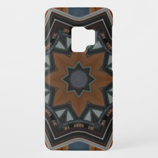 Kaleidoscope brown star Case-Mate samsung galaxy s9 case