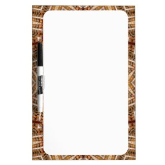 Kaleidoscope Brown Star Dry Erase Board