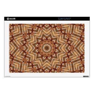 Kaleidoscope Brown Star Laptop Decals