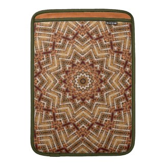 Kaleidoscope Brown Star MacBook Air Sleeve