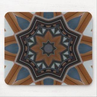 Kaleidoscope Brown star Mouse Pad