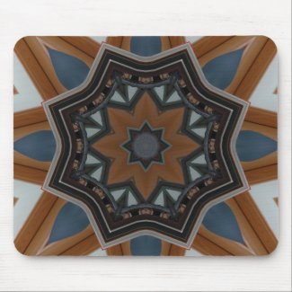 Kaleidoscope Brown Star pattern...