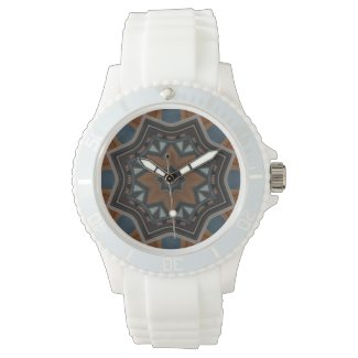 Kaleidoscope Brown Star pattern... Watch