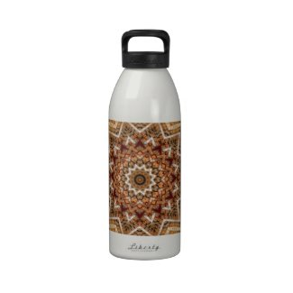 Kaleidoscope Brown Star Water Bottle