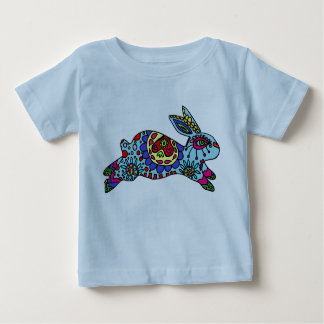 Kaleidoscope Bunny   BLUE Baby T-Shirt