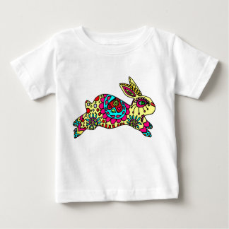 Kaleidoscope Bunny   Pale Yellow Baby T-Shirt