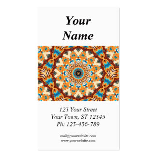 Kaleidoscope Business Card with 2013 calendar