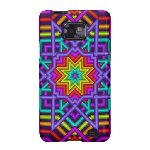 Kaleidoscope case with colourful Diamond star Samsung Galaxy SII Case