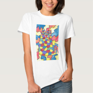 Kaleidoscope cat t shirt