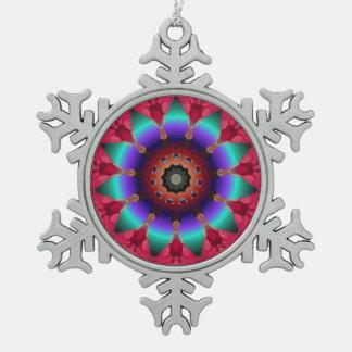 Kaleidoscope Christmas Snowflake Ornament