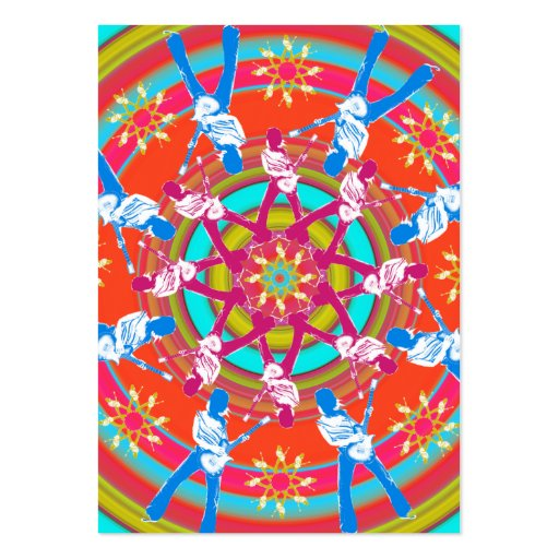 """""""Kaleidoscope"""" Chubby Card Large Business Cards (Pack Of 100)"""