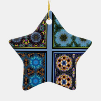 Kaleidoscope Collage Marvel Double-Sided Star Ceramic Christmas Ornament