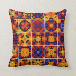 Kaleidoscope Collage Throw Pillow