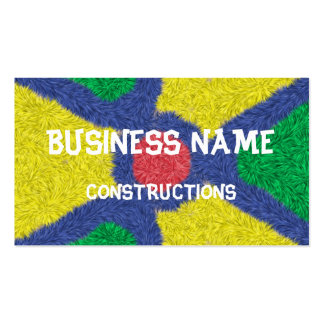 Kaleidoscope colorful furry Double-Sided standard business cards (Pack of 100)
