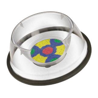 Kaleidoscope colorful furry pet bowl