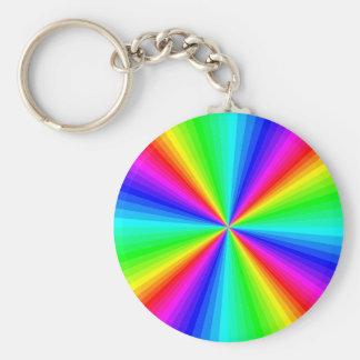 kaleidoscope-colors basic round button keychain