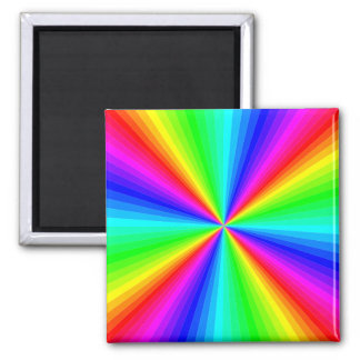 kaleidoscope-colors 2 inch square magnet