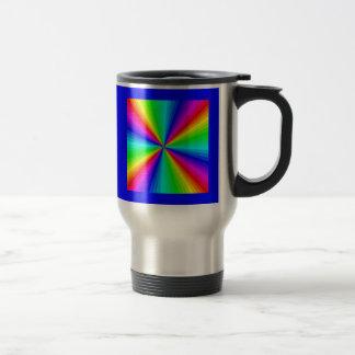 kaleidoscope-colors 15 oz stainless steel travel mug