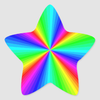 kaleidoscope-colors star sticker