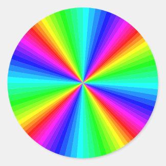 kaleidoscope-colors classic round sticker
