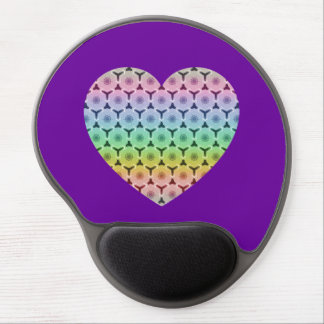 Kaleidoscope Colourful honeycomb pattern Heart Gel Mouse Pads