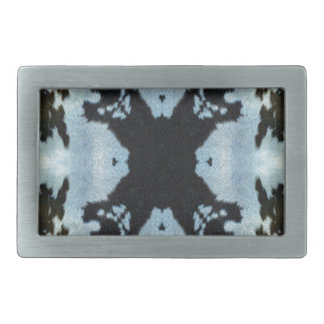 Kaleidoscope cow hide pattern belt buckle