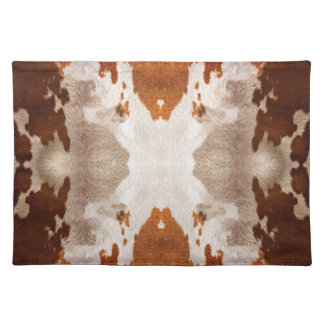Kaleidoscope Cow Hide Pattern Cloth Placemat