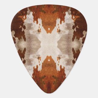 Kaleidoscope cow hide pattern guitar pick
