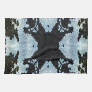 Kaleidoscope cow hide pattern hand towel