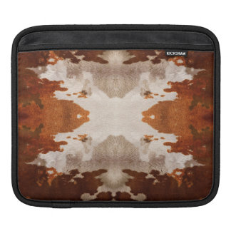 Kaleidoscope cow hide pattern ipad sleeve for iPads